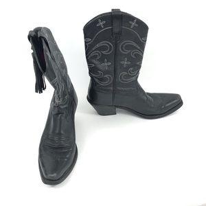Ariat Women's Desert Star Cowboy Leather Boots 9 B